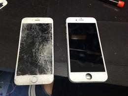 iPhone6のガラス割れ修理!バキバキに割れた画面 南柏よりご来店!