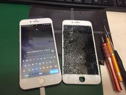 iPhone7 電源がつかない! 画面+バッテリー交換修理