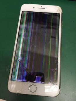 iPhoneの液晶画面がひどいことに!!iPhone7Plus 修理