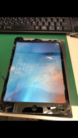 iPadmini 画面割れ 交換修理!