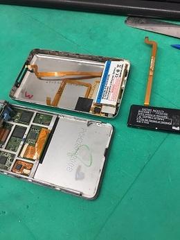 iPodclassicのバッテリー交換修理