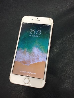 iPhone6sの画面修理