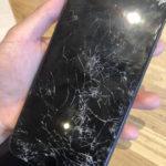 iPhone7 画面交換 横浜駅周辺 画面がバキバキになってしまった