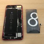 iPhone 8 plusバッテリー交換!即日修理!修理時間約10分!