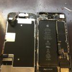アイフォン8水没復旧修理