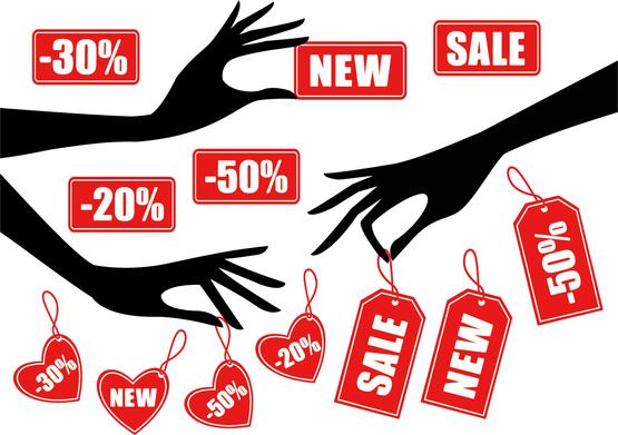 割引きタグを持つ手のシルエット hand silhouette sale tag イラスト素材2.jpg
